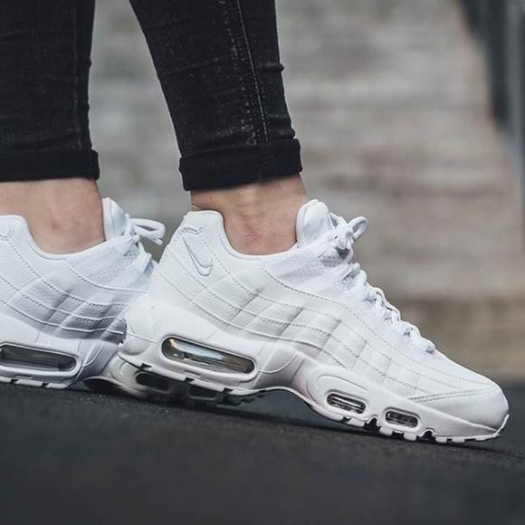 Women's Air Max 95 Premium Low Top Sneakers White